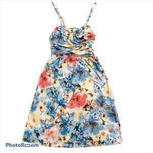 Soma super soft blue tropical floral sun dress